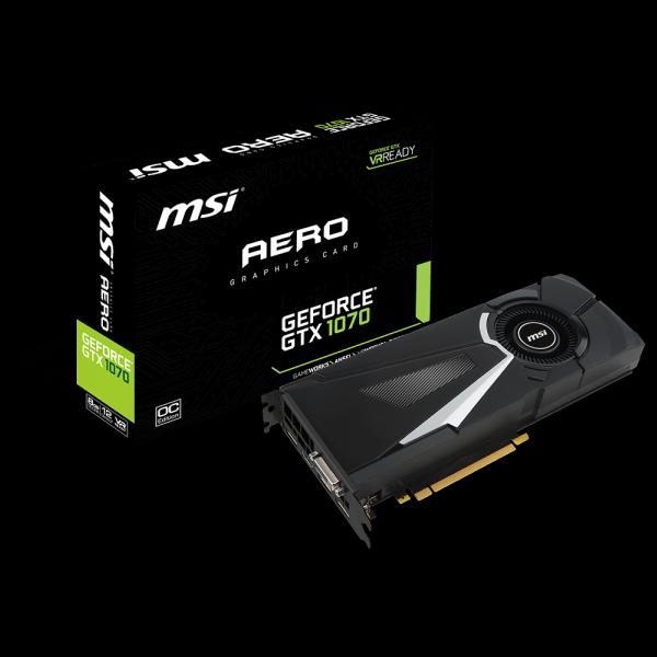MSI GeForce® GTX 1070 Aero OC 8G (GTX1070-AERO-OC-8G) стоимость