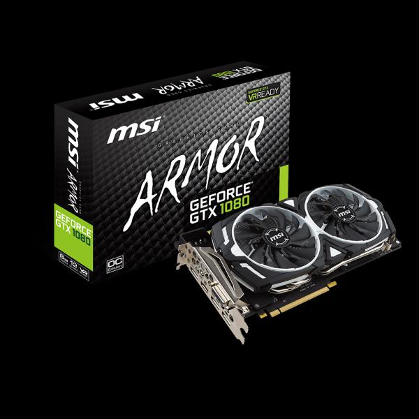 MSI GeForce® GTX 1080 Armor OC 8G (GTX1080-ARMOR-OC-8G) стоимость