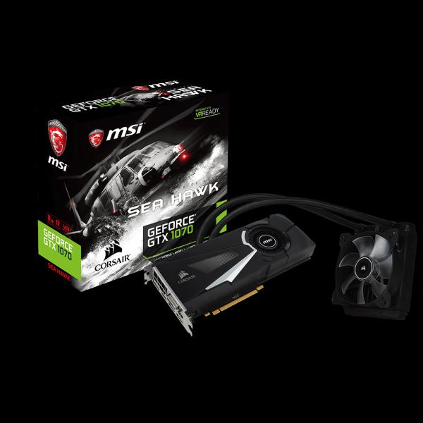 MSI GeForce® GTX 1070 Sea Hawk X 8G (GTX1070-SEAHAWKX-8G) стоимость