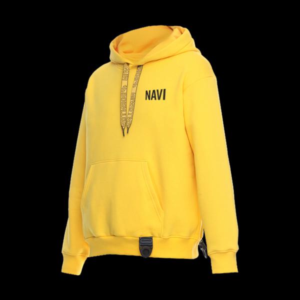 Hoodie NaVi x Litkovskaya Yellow S/M цена