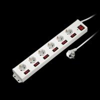 НАМА 6-Way Power Strip White (00137239)