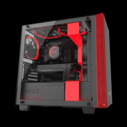 NZXT H400i Matte Black/Red (CA-H400W-BR)