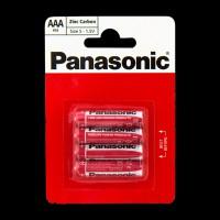Батарейки Panasonic RED ZINK R03 BLI 4 ZINK-CARBON