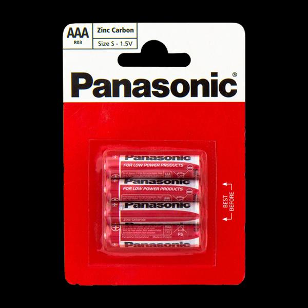 Panasonic RED ZINK R03 BLI 4 ZINK-CARBON купить