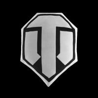 World of Tanks Logo White/Black (WG043339)