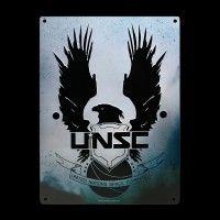 Металлическая картина ABYstyle HALO UNSC (28x38) (ABYPLA017)