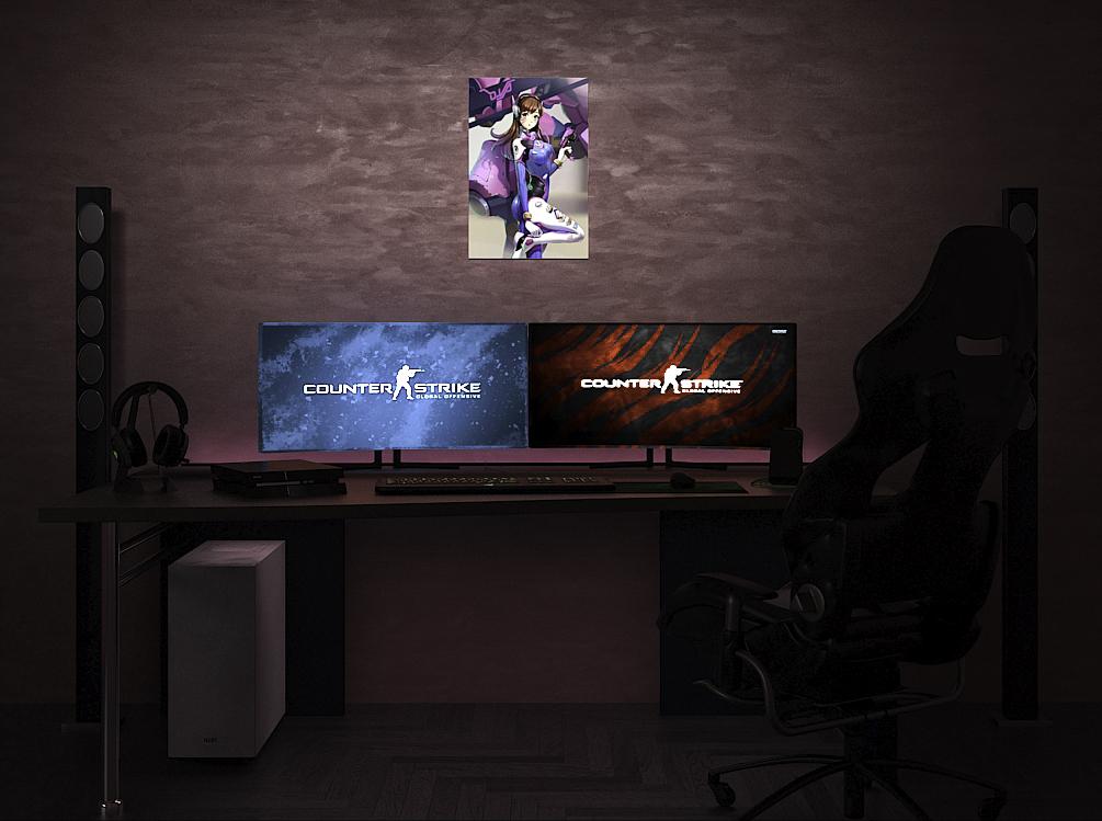 Overwatch D.Va на стене
