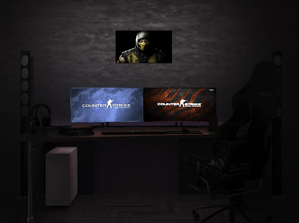 Mortal Kombat X: Scorpion на стене