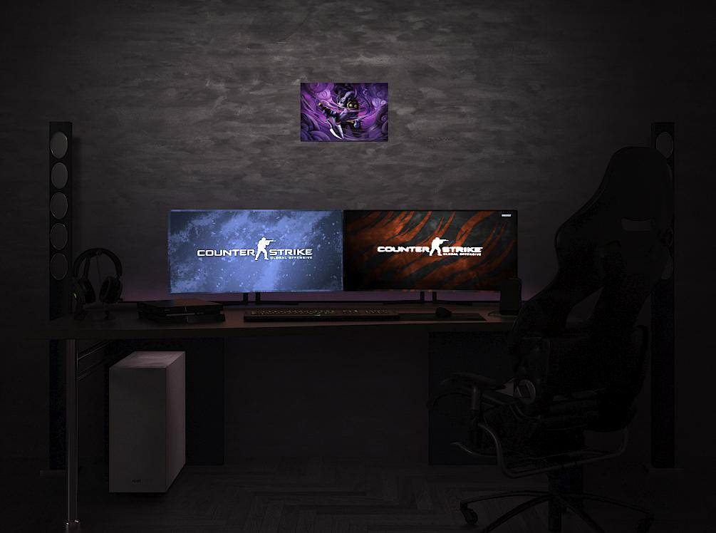 DotA 2 Riki на стене