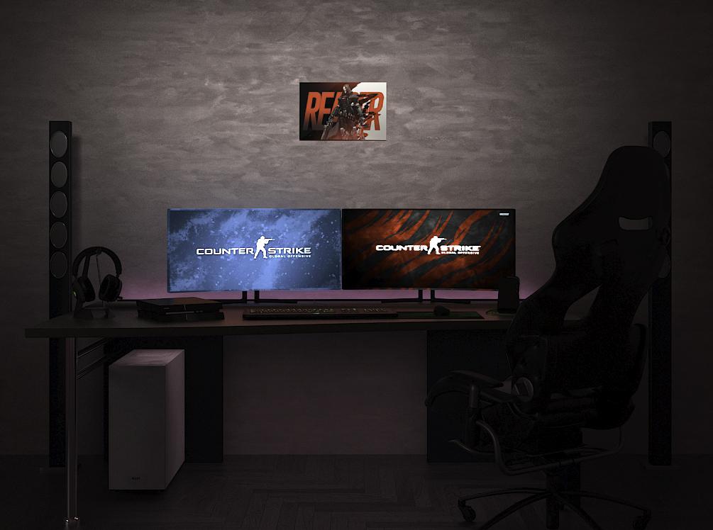 Overwatch Reaper на стене