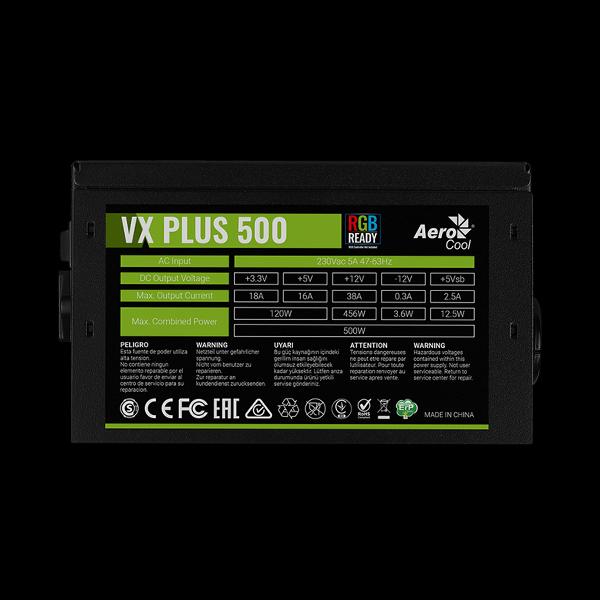 AeroCool 500W VX 500 Plus RGB в Украине