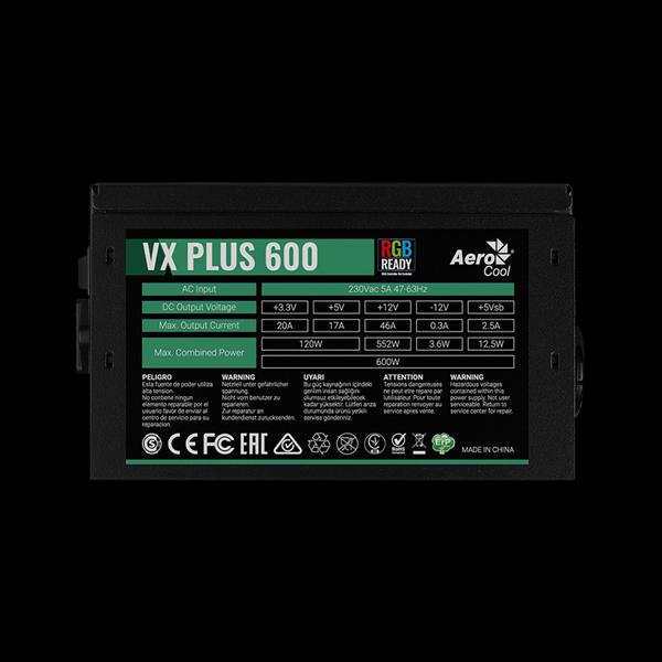 AeroCool 600W VX 600 Plus RGB в Украине