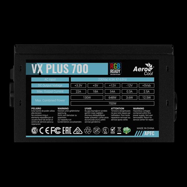 AeroCool 700W VX 700 Plus RGB фото
