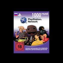 Карта оплаты для PlayStation Network (1000 рублей)