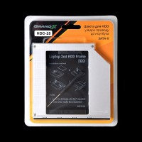 Адаптер подключения  в отсек привода ноутбука Sata/mSata Grand-X HDC-25