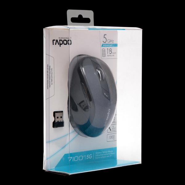 Rapoo Wireless Optical Mouse 7100p Gray фото
