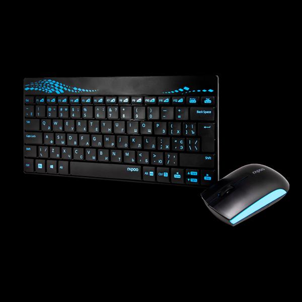 Rapoo 8000 Wireless Mouse & Keyboard Combo Blue купить
