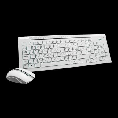 Rapoo 8200p Wireless Optical Mouse & Keyboard White купить