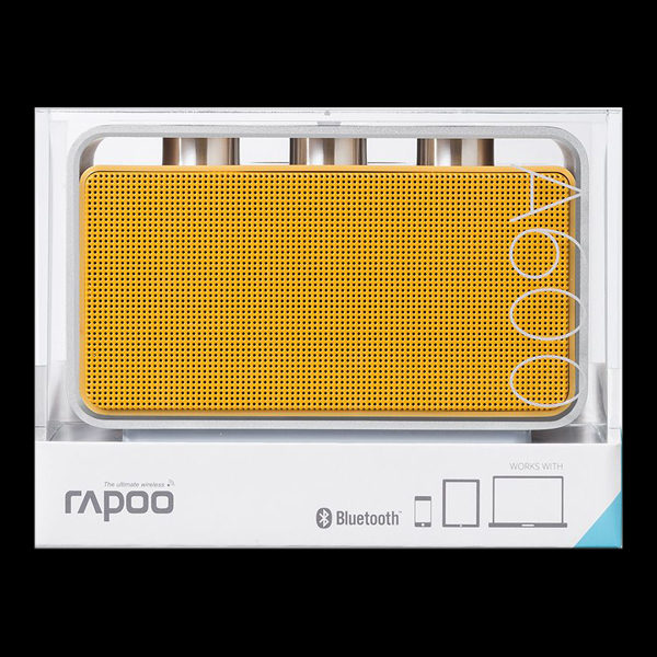 Rapoo A600 Bluetooth Portable NFC Speaker Yellow фото