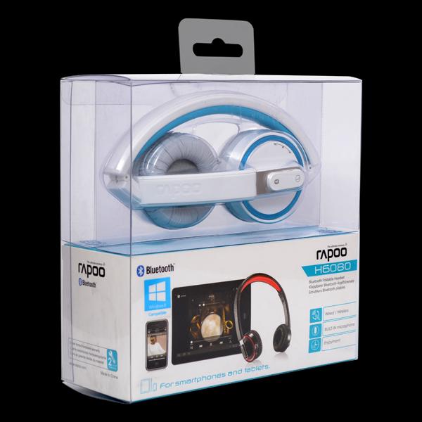 Rapoo Bluetooth Foldable Headset H6080 Blue фото
