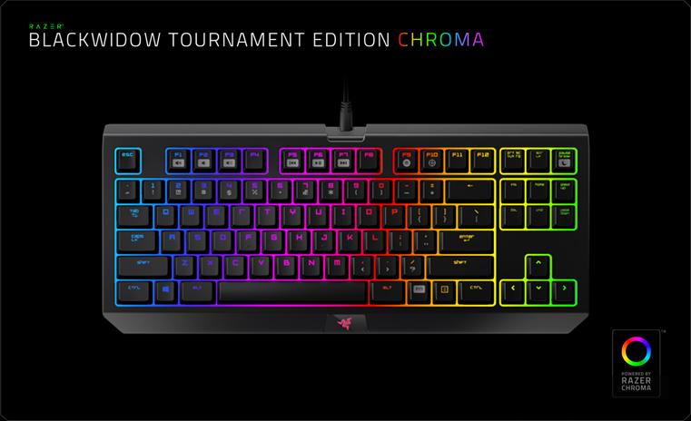 Razer BlackWidow Tournament Edition Chroma V2 Yellow Switch (RZ03-02190800-R3M1)