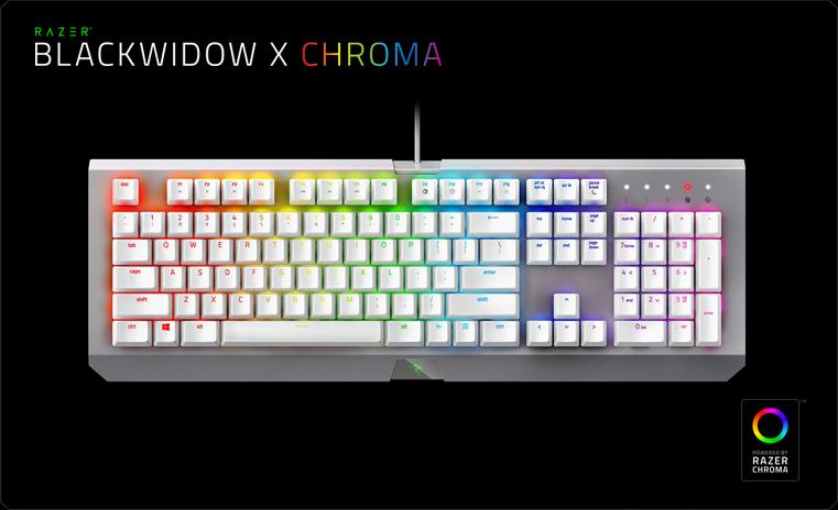 Razer BlackWidow X Chroma Mercury Edition (RZ03-01762000-R3M1)