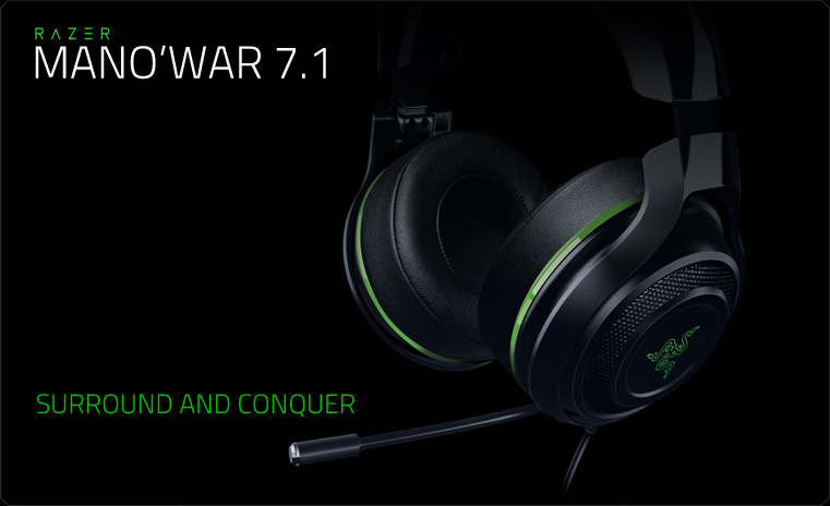 Razer Man O\'War 7.1 Green (RZ04-01920300-R3GM1)