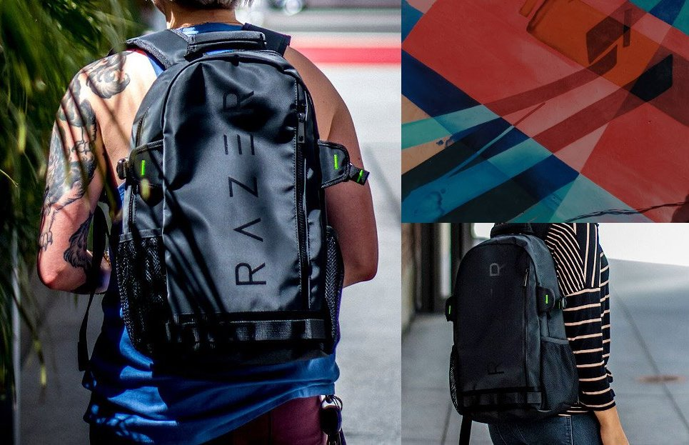 Рюкзак Razer Rogue Backpack на спине