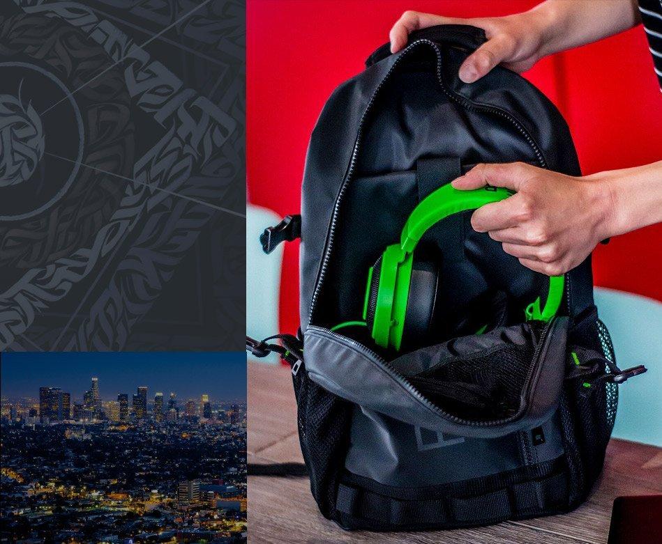 Наушники в рюкзаке Razer Rogue Backpack