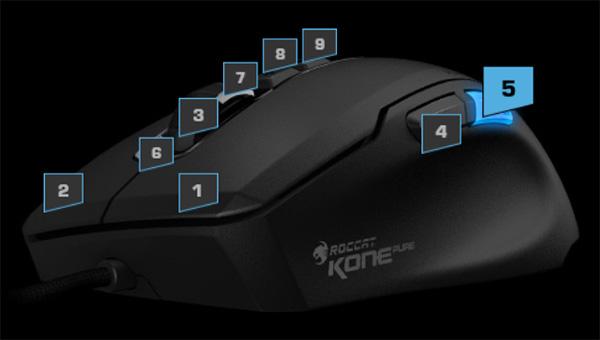 Технология Easy-Shift у ROCCAT Kone Pure Owl-Eye
