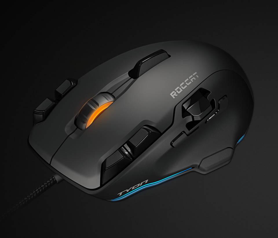 Внешний вид черной мышки Roccat Tyon