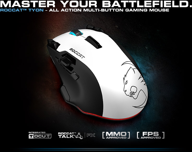 ROCCAT(TM) Savu - Mid-Size Hybrid Gaming Mouse