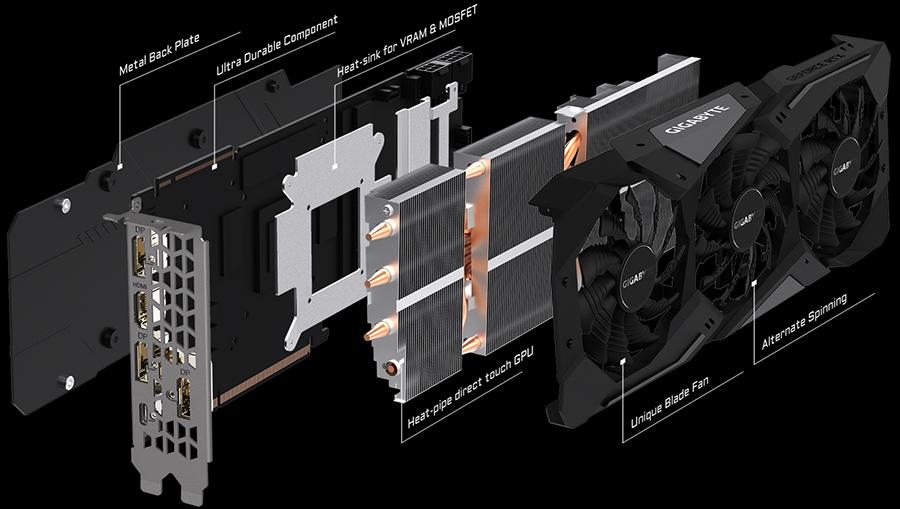 GeForce RTX 2080 строение