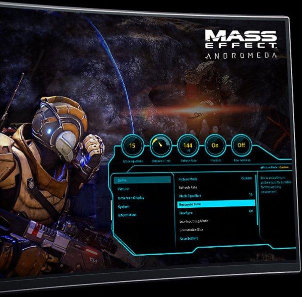 Экранное меню в игровом стиле