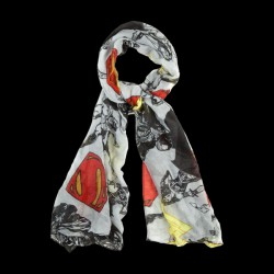 Oblong viscose characters and icons toss Scarf (SF353KDOJ)