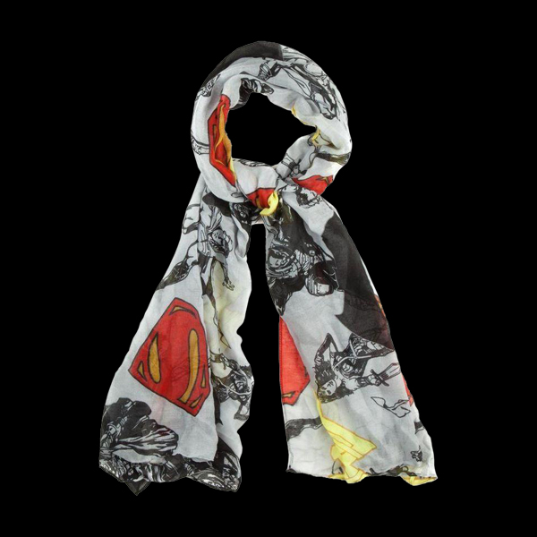 Oblong viscose characters and icons toss Scarf (SF353KDOJ) купить