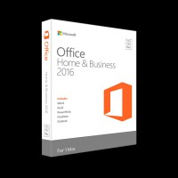Microsoft Office Mac Home Business 1PK 2016 English Only Medialess