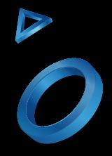 Кружочек и треугольник