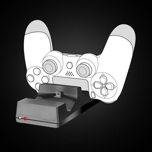 SpeedLink JAZZ USB Charger for PS4 (SL-450000-BK) фото