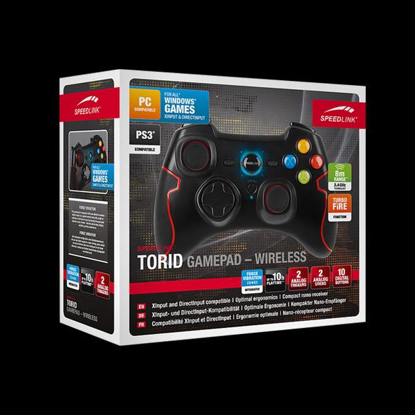 SpeedLink TORID Wireless Gamepad for PC/PS3 Black (SL-6576-BK) фото