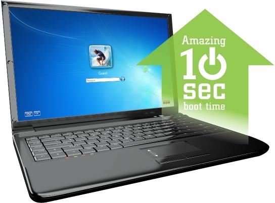 Быстрое включение компьютера и загрузка приложений