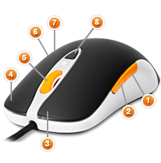 SteelSeries Sensei Fnatic. Кнопки