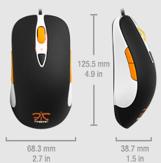 SteelSeries Sensei Fnatic. Размер