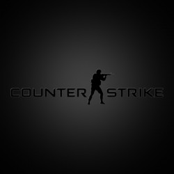 Counter Strike Logo Sticker (black)