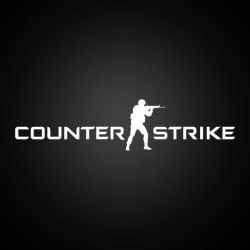 Counter Strike Logo Sticker (white)