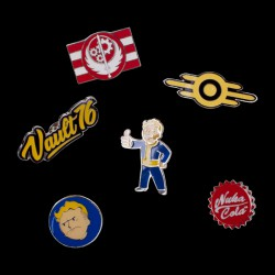 Fallout 76 - Set Of 6 Metal Pins (PI601678FAL)