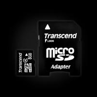 Transcend 8 GB microSDHC class 4 + SD Adapter (TS8GUSDHC4)