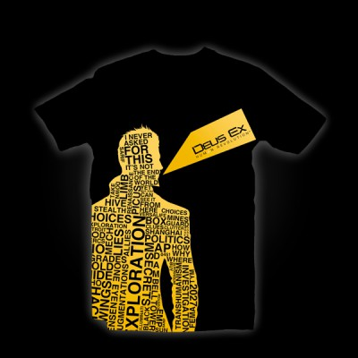 Deus Ex 3 Words T-Shirt L