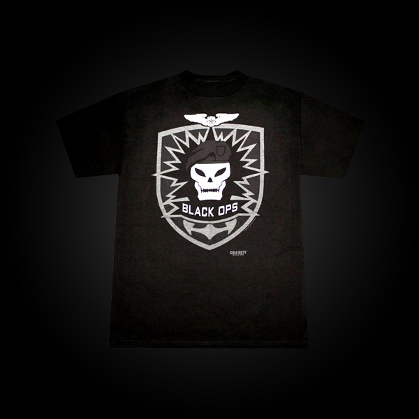 Call of Duty: Black Ops T-Shirt Skull M купить