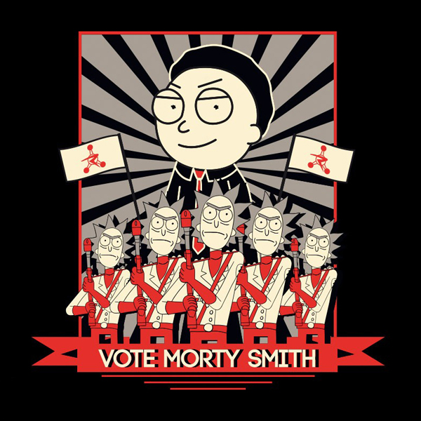 ABYstyle Rick and Morty Vote Morty L (ABYTEX506L) фото